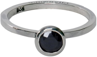 Ring R132 Black 'Round Diamond'