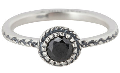 Ring R289 Black 'Crown Diamond'
