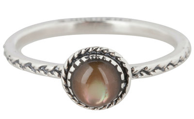 Ring R294 Brown 'Crown Nat Stone'