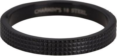 Ring R368 BLACK 'Carved Steel'