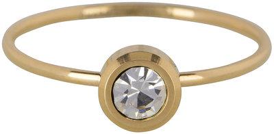 RING R428 GOLD 'STEEL STYLISH' Staffelkorting!