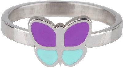 KR79 Butterfly Purple Blue Shiny Steel