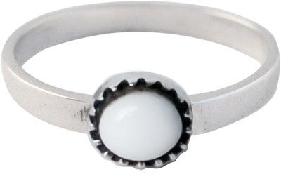 Ring KR05 'Natural Stone' White Agate