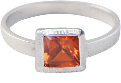 Ring KR28 'Cubic Diamond' Light Red