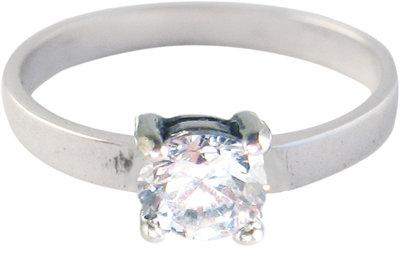 Ring KR29 'Princess Diamond' White