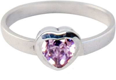 Ring KR11 'Crystal Love' Baby Pink