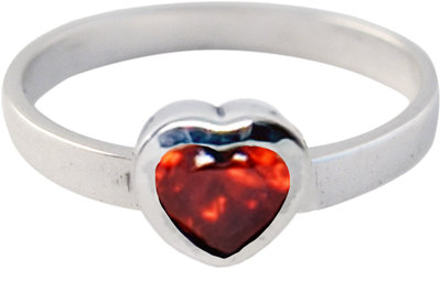 Ring KR12 'Crystal Love' Red