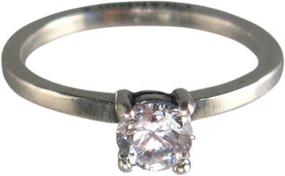 Ring R183 White 'Princess Diamond'