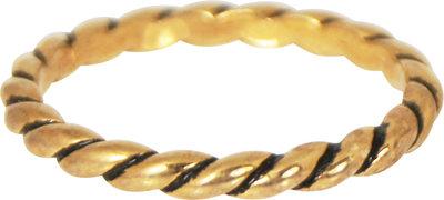 OP=OP Ring R197 Gold 'Twisted' STAFFELKORTING