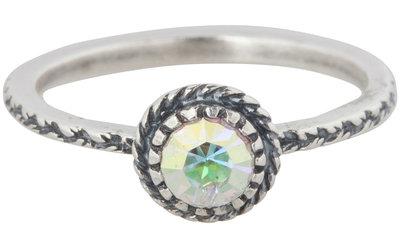 Ring R285 Black 'Crown Crystal Diamond'