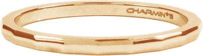 "Stalen stapelring ""R312 Angular Rose Steel "" van het fashion sieradenmerk Charmin's."