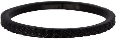 RING R450 BLACK 'STEEL BRAIDS'