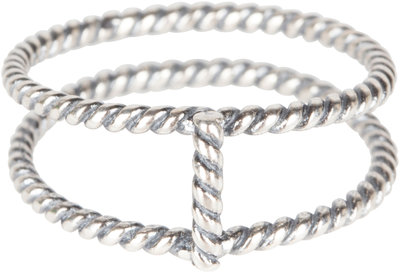 R567 Silver Double the Charm Twisted