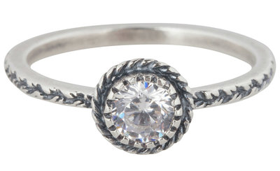 Ring R287 White 'Diamond Crown'