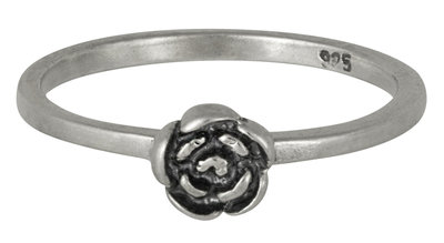 Ring R073 Silver  'Rose'