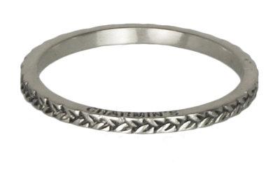 Ring R224 Silver 'Braided'