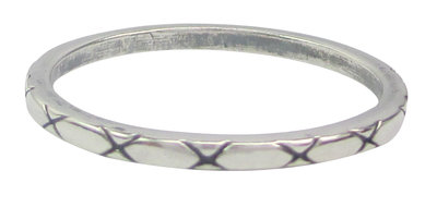 Ring R004 Silver 'X-Type'
