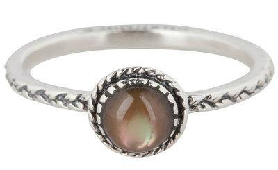 Ring R294 Brown 'Crown Nat Stone'