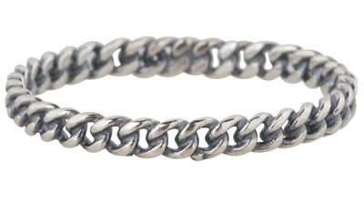 Ring R298 Silver 'Chain'