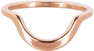 R554 Half Moon Plain Rose Gold Steel