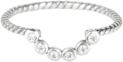 R562 Silver Twisted Barock Crystal Stones