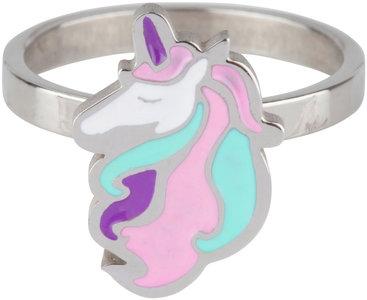 KR77 Unicorn Pink Blue Shiny Steel
