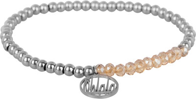 OHB35 Ohlala! Bracelet 4mm Shiny Steel and champ crystal