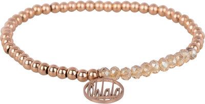 OHB37 Ohlala! Bracelet 4mm Rose Gold and champ crystal