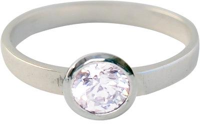 kidz-kinderring-zilver-KR01-ROUND DIAMOND WHITE