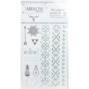 AR00 Arrow Festival Tattoo Silver