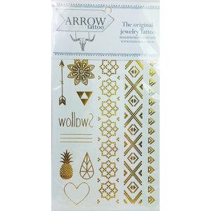 AR01 Arrow Festival Tattoo Gold