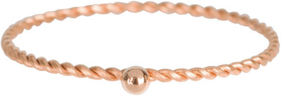 R526 Dot Twisted Ring Rose Gold Steel