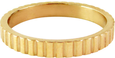 OP=OP Ring R320 Gold 'Serrated' STAFFELKORTING