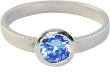 KR04-Kidz-Kinderring-Zilver-Round Diamond Baby Blue